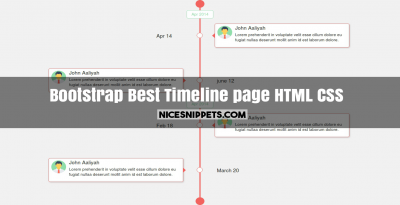 Best timeline page design using html,css and bootstrap