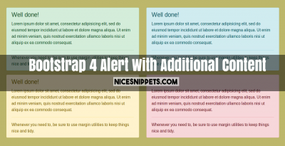 Bootstrap 4 Alert With Additional Content