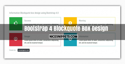 Bootstrap 4 Blockquote Box Design With html,css