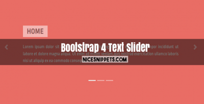 Bootstrap 4 Carousel Text Slider Example