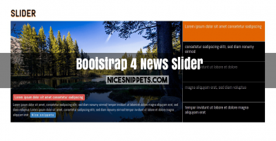 Bootstrap 4 Carousel With Title And Description News Slider