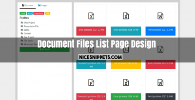 Bootstrap 4 Display Document Files List Page Design
