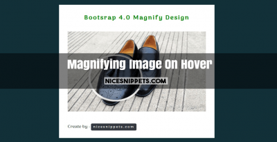 Bootstrap 4 Magnifying Image On Hover