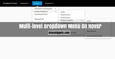 Bootstrap 4 Multilevel Dropdown Menu on Hover Effect