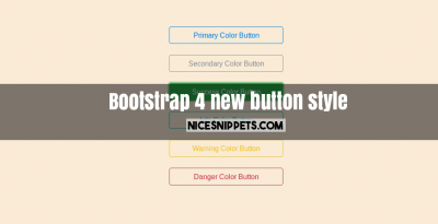 Bootstrap 4 new button style