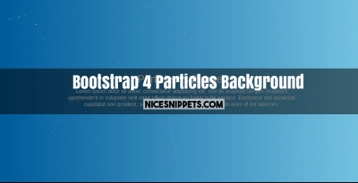 Bootstrap 4 Particles Background js Banner