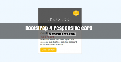 Bootstrap 4 responsive card design example