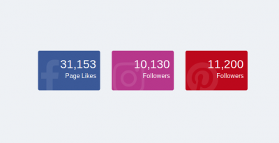 Bootstrap 4 social followers or like count box