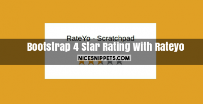 Bootstrap 4 Star Rating Usign Rateyo Jquery