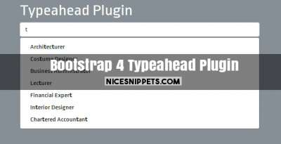 Bootstrap 4 Typeahead Plugin Example
