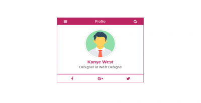 Bootstrap 4 user profile design usign with html and css