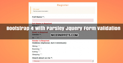 Bootstrap 4 With Parsley Jquery Form Validation Example