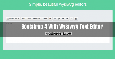 Bootstrap 4 With Wysiwyg Text Editor Example