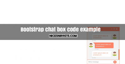 Bootstrap chat box code example