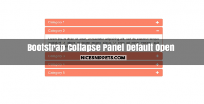 Bootstrap collapse panel example with default open