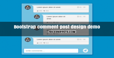 Bootstrap comment post design demo