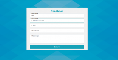 Bootstrap 4 float label css example with feedback form
