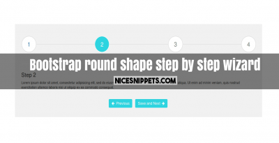 Bootstrap round shape step by step wizard