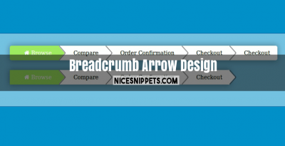 Breadcrumb Arrow Design