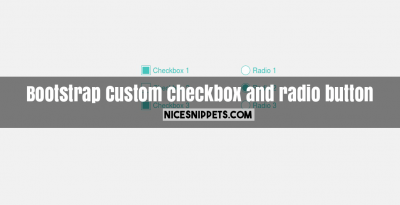 Custom good looking checkbox and radio button design usign bootstrap
