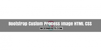 Custom process div and image usign html,css and bootstrap