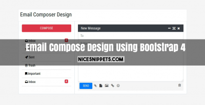 Email Compose Design Using Bootstrap 4