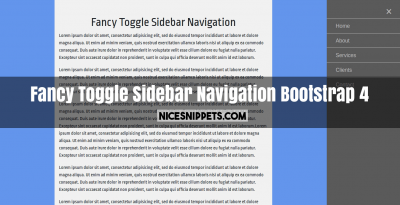 Fancy Toggle Sidebar Navigation Usign Bootstrap 4