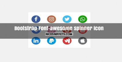 Font-awesome best design spinner icon using bootstrap