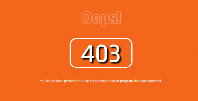 forbidden eroor 403 page design using html,css