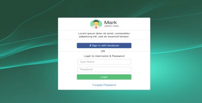 Login form with social login design using bootstrap