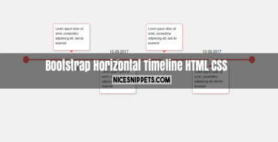 Horizontal Timeline design using html,css and bootstrap