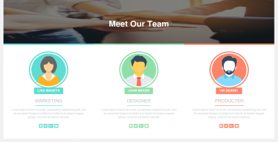 "How to create responsive ""Meet Our Team"" page design using bootstrap"