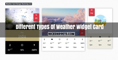 Different Types Of Weather Widget Card With Bootstrap 4