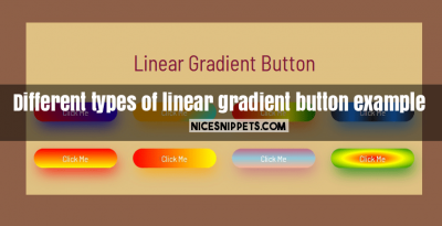 Different types of linear gradient button example using css and bootstrap