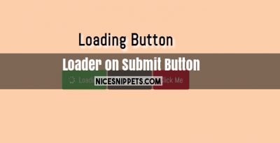 Loading Button With Click Event Usign Bootstrap 4
