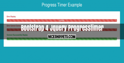 Jquery Progresstimer With Bootstrap 4