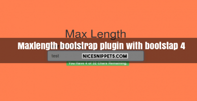 Maxlength bootstrap plugin with bootstap 4