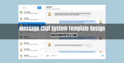 Message Chat System Template Design using HTML CSS