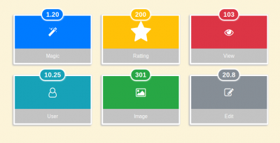 Admin dashboard box with hover effect using bootstrap 4