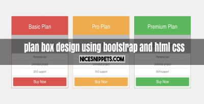 plan box design using bootstrap and html css