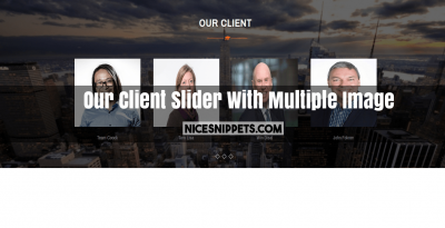 Our Client Slider With Multiple Image Usign Bootstrap 4