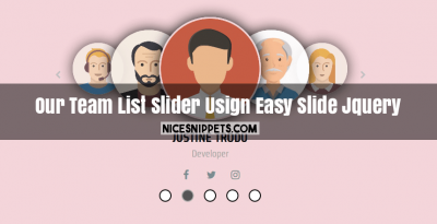 Our Team List Circle Image Slider Usign Easy Slide Jquery