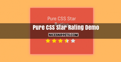 Pure CSS Star Rating Demo With Bootstrap 4