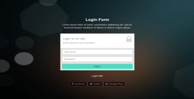 Responsive bootstrap code of login design page