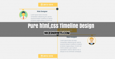 Responsive Timeline Design Usign Pure CSS and HTML