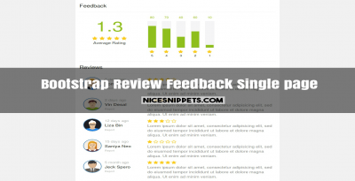 Review and Feedback single page responsive design using bootstrap