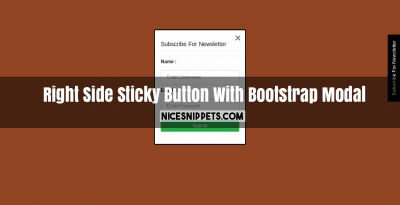 Right Side Sticky Button With Bootstrap Modal