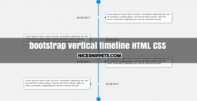 Sample bootstrap code of timeline design using html and css