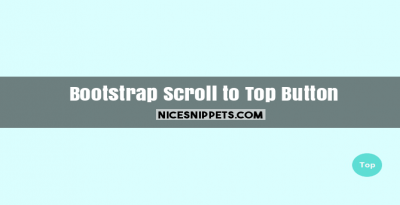 Scroll to top button using bootstrap sample code