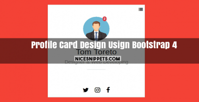 User Profile Card Design Usign Bootstrap 4